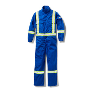 rasco fr, coveralls, reflective trim, royal blue