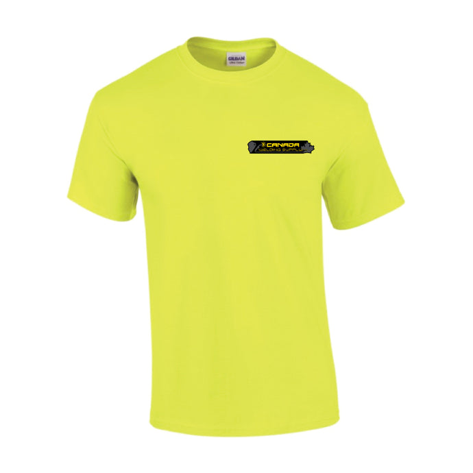 canada welding supply hi-viz green shirt front