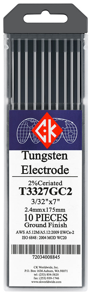 ck worldwide 2% ceriated tungsten grey