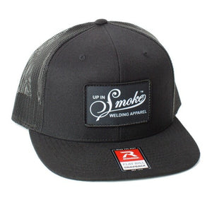 Up In Smoke BLACK/BLACK Mesh Snap Back Hat
