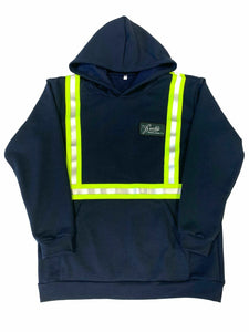Up In Smoke Fleece FR Welding Hoodie - Reflective Stripes
