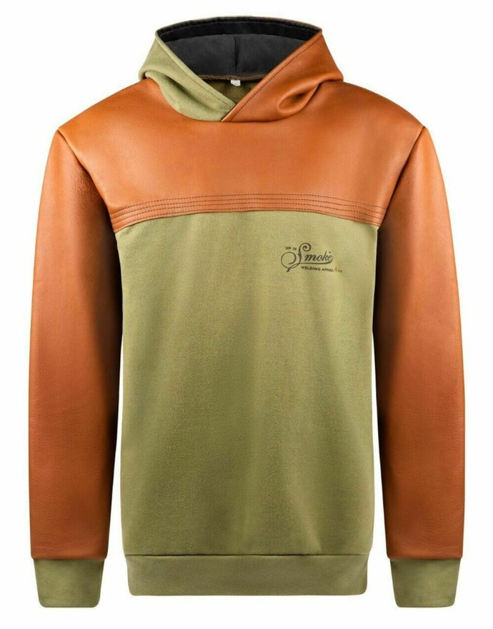 Up In Smoke THORAX FR Fleece Welding Hoodie - Brown/Green