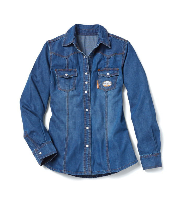 rasco fr, women's denim shirt