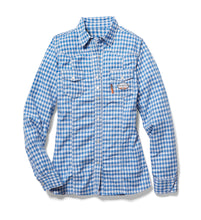 rasco fr, womens's plaid shirt, blue
