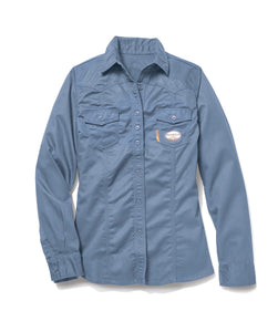 rasco fr, women's work blue shirt