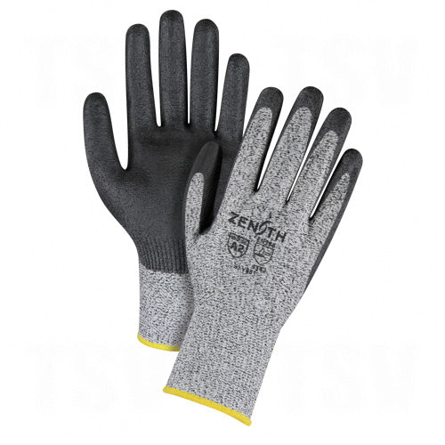 zenith, cut resistant gloves, grey and black