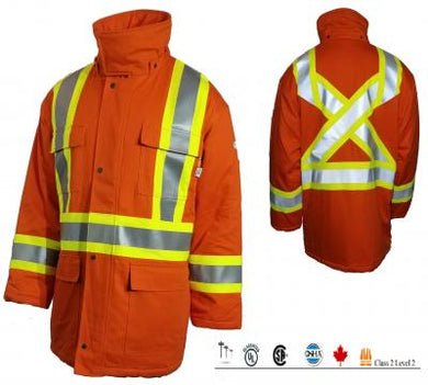 Rasco FR 88/12 HI VIS Safety Lined Parka - FR8206OH