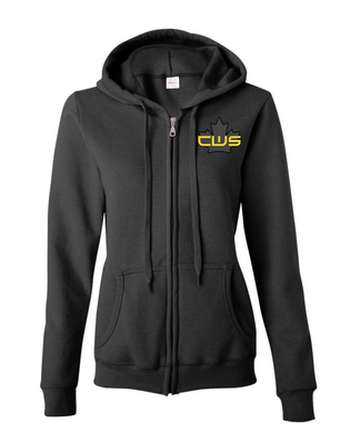 Women's CWS Black Zip-up Sweater