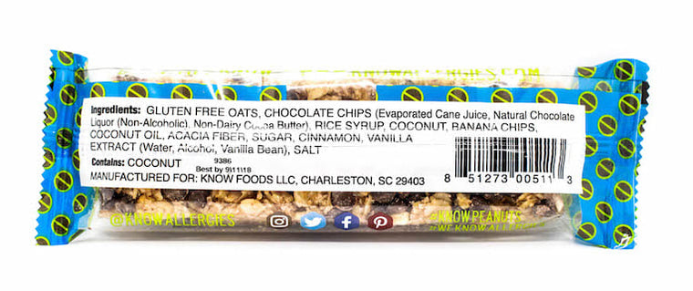 Chocolate, Coconut & Banana Bar (Pack of 12)