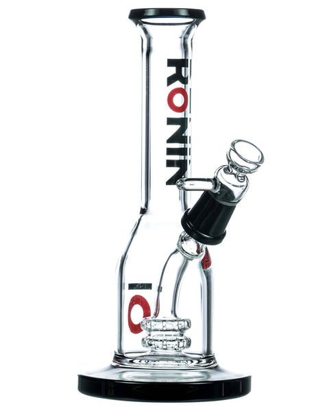 """Kawa"" Long Neck Double Disc Mini Bong Ronin Glass"