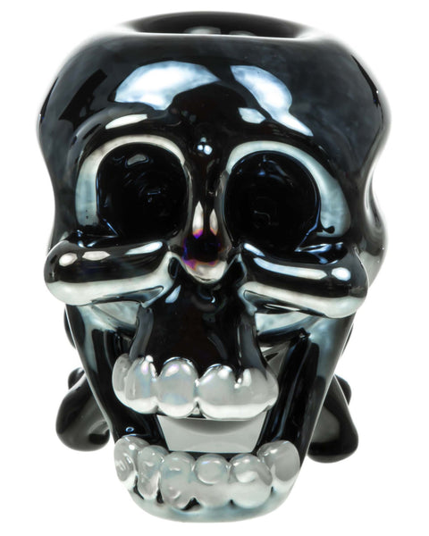 Black and Blue Skull Hand Pipe | HSI
