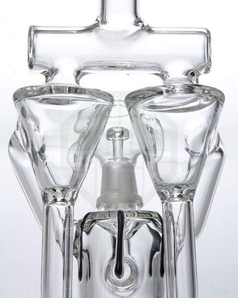 """Twincycler"" Dual Chamber Inline Perc Recycler 