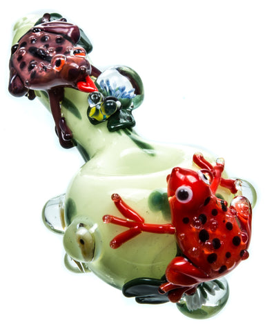 Frog Themed Spoon Pipe Empire Glassworks
