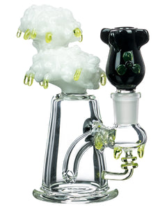 Radioactive Cloud Mini Bong with Nuke Bowl Empire Glassworks