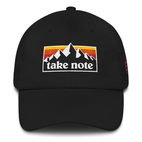 Take Note Mountains - Dad hat