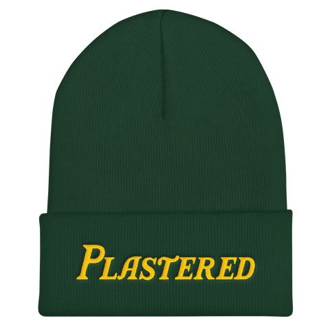 Plastered, Text - Cuffed Beanie