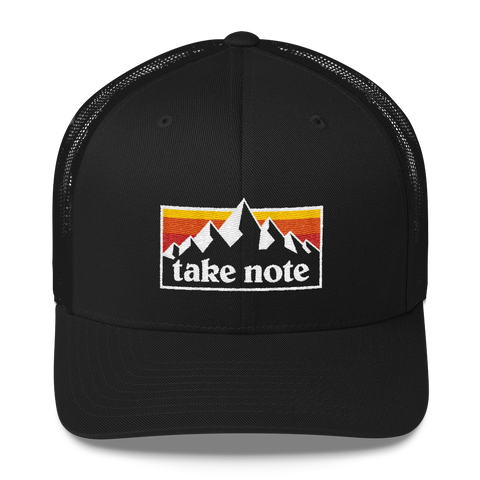 Take Note Mountaints - Trucker Cap