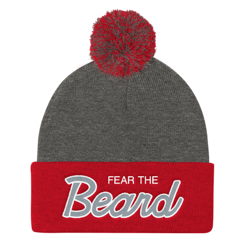Fear The Beard - Pom Knit Cap