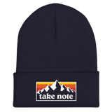 Take Note Mountains - Cuffed Beanie