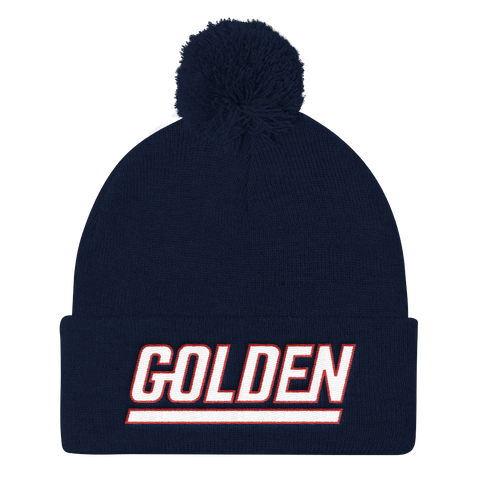 Golden - Pom Knit Cap