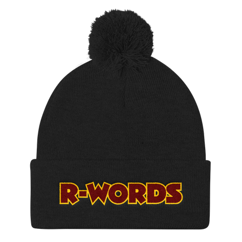 R-Words - Pom Knit Cap