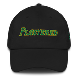 Plastered, Text - Dad hat