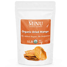 Load image into Gallery viewer, MiNU Organic Dried Mango (16 oz (1 lb) #1 Paleo snack, MiNU Mindful Nutrition, No Sulfur, No Added Sugar, Dried, Superfood, Raw, Paleo, Vegan, NonGMO, Gluten Free gomix