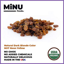 Load image into Gallery viewer, minu foods organic golden raisins