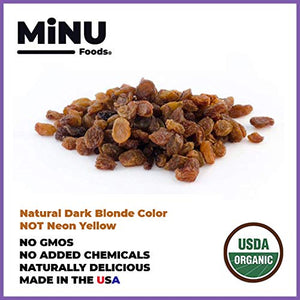 minu foods organic golden raisins