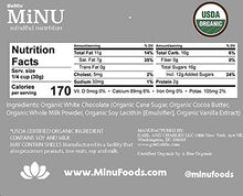Load image into Gallery viewer, MiNU Organic White Chocolate Chunks Chips 16 oz (1 lb), MiNU Mindful Nutrition GoMix NonGMO Fair Trade