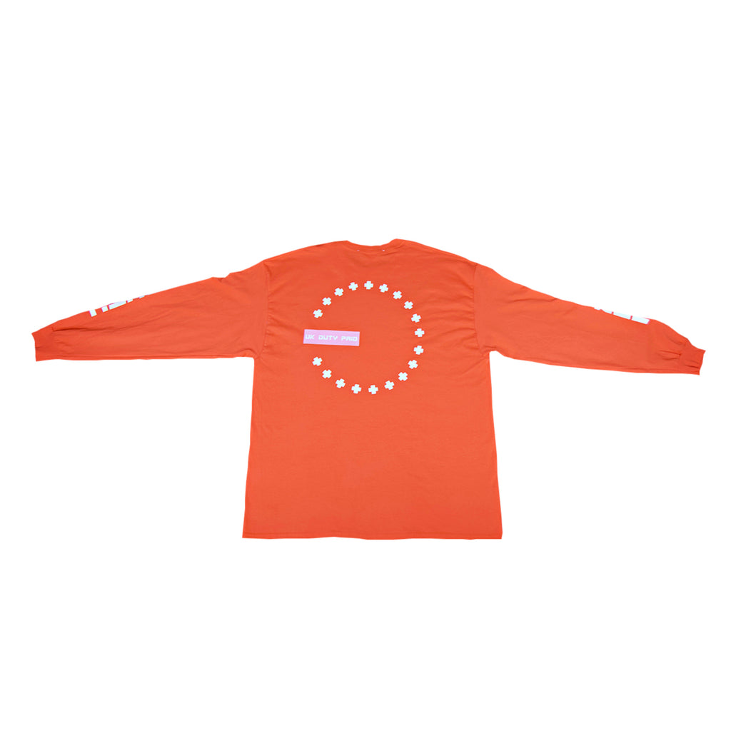 DUTY FREE LONG SLEEVE T - ORANGE