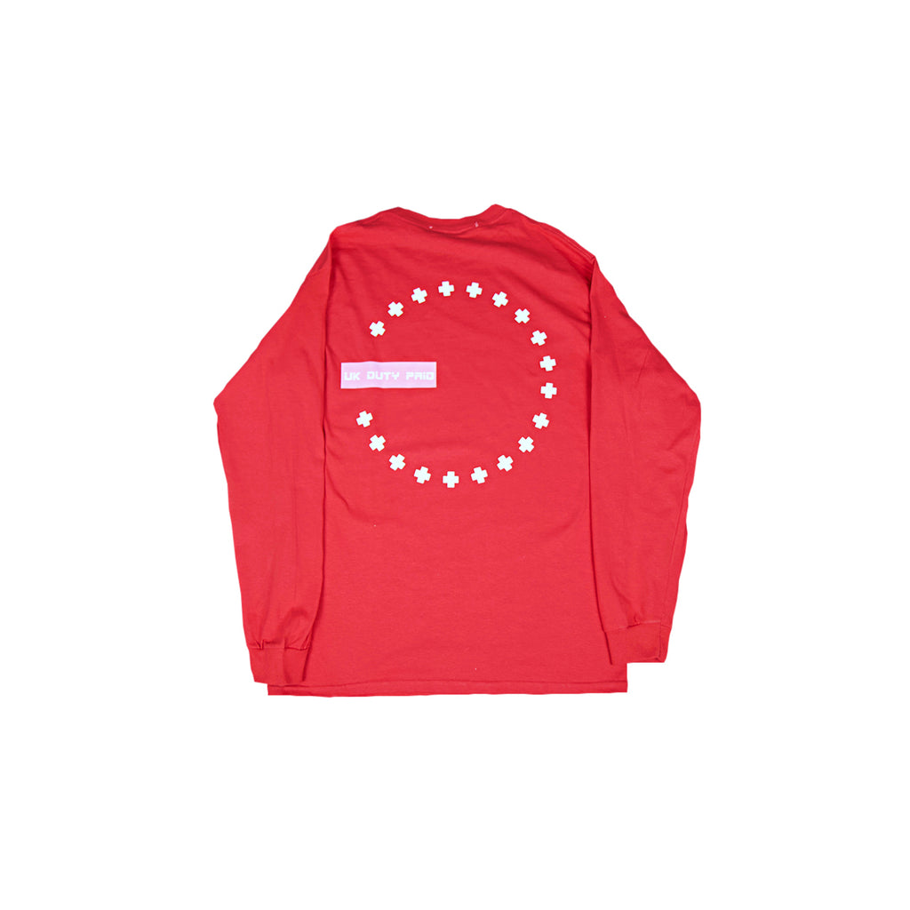DUTY FREE LONG SLEEVE T - RED