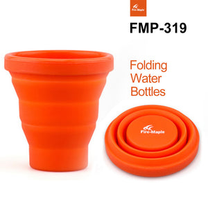 #Free Shipping Camping Silicon Folding Mug Portable Outdoor Camping Tableware Cup Bottle Fire Maple FMP-319 200ml 44g