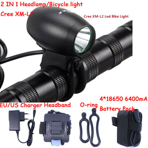 2016 New A11 2200 Lumens CREE XM-L2 Bike Bicycle Light LED Lamp Flashlight Front Cycling Light Bicycle HeadLamp Headlight