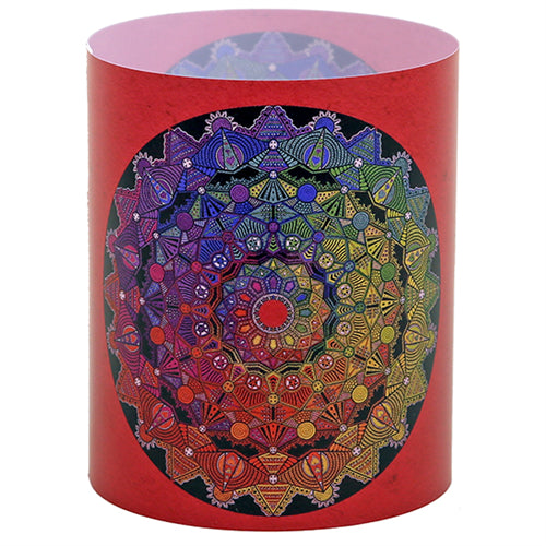 Windlight lantern Mandala-Yoga