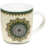 Gift box Tea Infuser Mug Mandala green - By Surya Shop