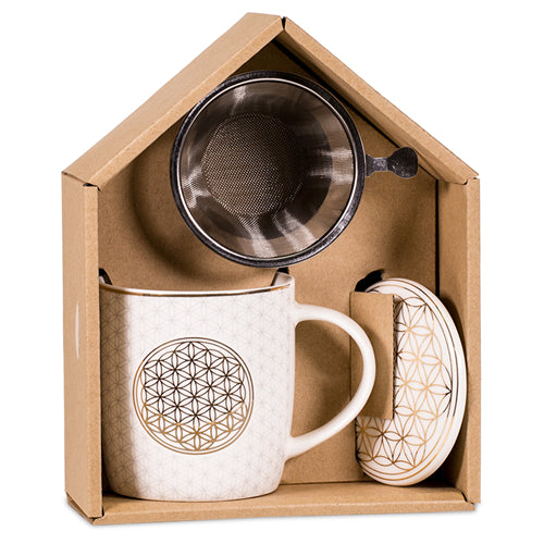Gift box Tea Infuser Mug Flower of Life - By Surya Shop
