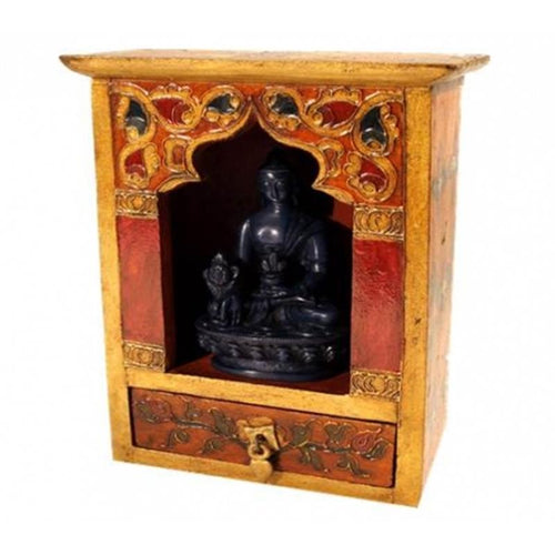 Altar with drawer wood hand-painted - By Surya Shop