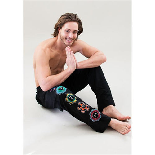 Chakra Yoga pants men black S/M/L - By Surya Shop