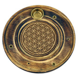 Incense burner sticks & cones Flower of life - By Surya Shop