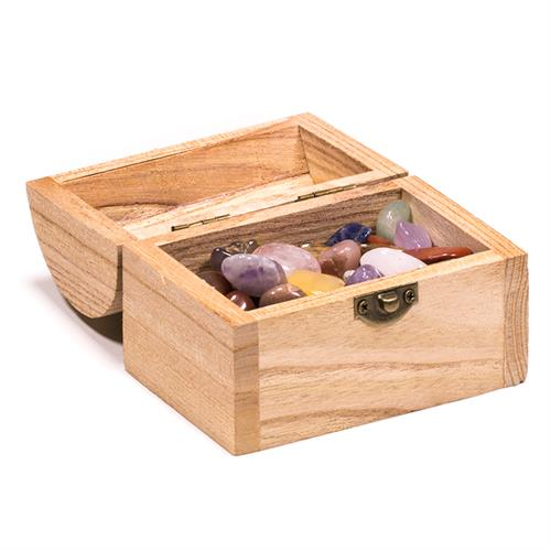 Treasure box with 200 grams of tumblestones