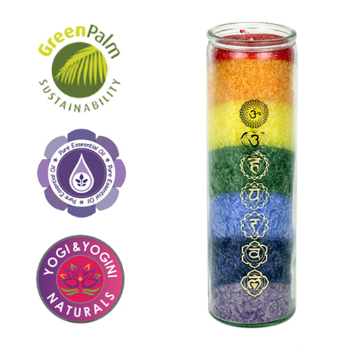 Chakra candle 7 Chakras with essential oils - By Surya Shop