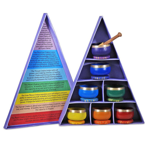Chakra singing bowl gift set with extra stick - By Surya Shop
