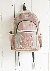Hemp Backpack with Jute String Detail - By Surya Shop