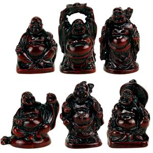 Buddhas red SET of 6 miniatures - By Surya Shop