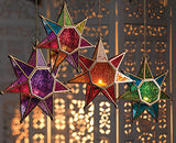 Moroccan Style Star Glass Lantern - By Surya Shop