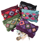 Cotton Diamond Crochet Zip Purse - By Surya Shop