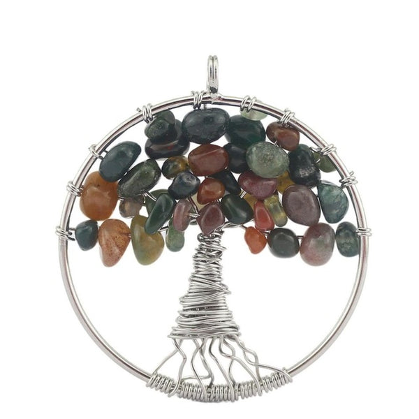 Life of Tree Necklaces Pendants 7 Chakra - By Surya Shop