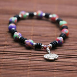 Stone beads Bracelet Ancient coin - By Surya Shop