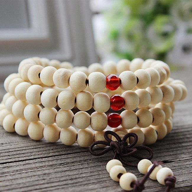 6 mm 108 Prayer Beads Wooden Red Sandalwood - By Surya Shop